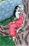 aerisdies blush inuyasha kagome_higurashi panties sex