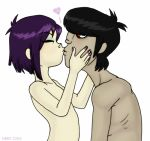 2005 gorillaz kissing murdoc_nicalls noodle zeriara zeriara_(artist)