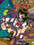 aerisdies blush demon inuyasha kagome_higurashi precum rape tentacle