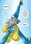 ass blonde_hair comic embarrassing panties smurfette the_smurfs underwear x^j^kny_(artist)