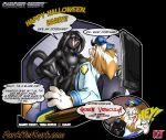 barry_frost black_cat breasts cat feline female furafterdark furry gnaw gnaw_(artist) gnight_shift halloween male nude pants_being_undone unzipped vera_noyce
