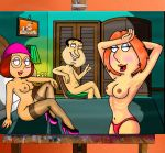 brian_griffin cartoon family_guy glenn_quagmire lois_griffin meg_griffin painting peter_griffin stewie_griffin stockings