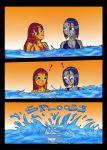 archangemon_(artist) bikini comic dc embarrassing raven starfire teen_titans