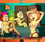 breasts brian_griffin erect_nipples family_guy glasses glenn_quagmire lois_griffin meg_griffin nude nipples panties peter_griffin stewie_griffin stockings topless
