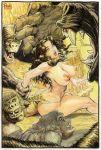 ass big_breasts breasts budd_root cavewoman meriem_cooper wrestle