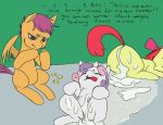 apple_bloom applebloom cub dialogue equine exhaustion female friendship_is_magic fucked_silly horse humour idecil money my_little_pony pimp pony scootaloo sweetie_belle unknown_artist whore young