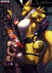 big_ass big_breasts breasts canine digimon dmitrys dmitrys_(artist) fetish fox futanari herm human intersex muscle renamon rika_nonaka testicle