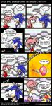 amy_rose black_eyes blue_hair boots bracelet closed_eyes comic cover_up embarrassing gloves hairband jewelry nude pink_hair sega short_hair sonic sonic_the_hedgehog sweat_drop text wardrobe_malfunction