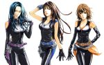 3_girls 3girls 80s ai_kisugi cat's_eye hitomi_kisugi kisugiâ_ai kisugi_ai kisugi_hitomi kisugi_rui multiple_girls oldschool rui_kisugi