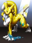 ass big_breast digimon furry kemono_inukai mirror pussy renamon