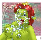 big_breast cum cum_on_tits dreamworks joe_randel ogre princess_fiona shrek tagme tits