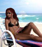 beach bikini cyberunique_(artist) eva sunglasses