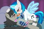 blush dildo equine female female_ejaculation friendship_is_magic hair horse lesbian my_little_pony octavia pony pussy_juice sex_toy tiarawhy vinyl_scratch wings