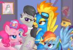 being_watched big_macintosh bow_(stringed_instrument) caramel_(mlp) daydream deathklok equine female friendship_is_magic lesbian male my_little_pony nathan_explosion not_invited octavia oral pegasus pinkie_pie rainbow_dash shock spitfire thought_bubble threesome treble_clef unknown_artist walk-in wing_boner