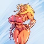 1girl anthro anthrofied avian big_breasts bigdad bird blaziken breasts huge_breasts muscular muscular_female nintendo non-mammal_breasts pokémon pokémorph thick_thighs underboob video_games wide_hips