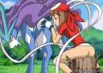 blush bottomless closed_eyes hentaimate may pokemon rimming suicune