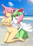 :3 beach boobs breasts cute fingering kirlia pokemon pokepornlive public skitty smile yuri