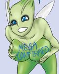 1girl anthro big_breasts celebi mega_milk pokemon