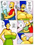bart_simpson big_breasts boob_squeeze breasts comic fan_comic frink group_sex hair hexamous huge_breasts lactation marge_simpson nsfw porn simpsincest the_simpsons yellow_skin