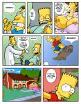bart_simpson big_breasts boob_squeeze breasts comic fan_comic frink group_sex hair hexamous huge_breasts lactation marge_simpson nsfw porn simpsincest teeth text the_simpsons yellow_skin