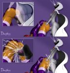 animated animation big cum cum_splatter dc dickgirl dongidew dongidew_(artist) futa futanari gif penis purple_background raven starfire teen_titans