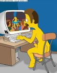 animated ass ass_shake breast_shake breasts edna_krabappel gif hair homer_simpson homerjysimpson marge_simpson moe's_tavern ned_flanders penis pornography_(object) sexy_ass strip stripper the_simpsons yellow_skin
