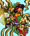 anal anne_maria breasts dawn drago-flame nipples tentacle torn_clothes total_drama_island zoey