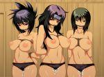 3_girls anko_mitarashi bdsm big_breasts bondage breasts naruto pussy_juice shizune yuuhi_kurenai