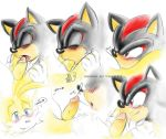 "fakerface fakerface_(artist) foreskin furry gay male miles_""tails""_prower oral shadow_the_hedgehog shails sonic_team tails uncut"