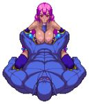 1boy 1girl animated animated_gif bouncing_breasts breasts chijoku_no_troll_busters dark_skin fellatio gloves interspecies large_breasts lowres monster oral orc paizuri pixel_art purple_hair rape red-p red_eyes sex simple_background size_difference transparent_background troll