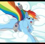 comic equine friendship_is_magic horse looking_at_viewer my_little_pony pegasus pony pussy rainbow_dash spreading tiarawhy vaginal wings
