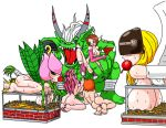 angewomon digimon jim_sugomi jim_sugomi_(artist) kari_kamiya lillymon mimi_tachikawa ogremon sora_takenouchi