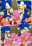 69 amy_rose anal anthro bdsm bisexual blaze_the_cat bondage bound breasts comic dialog female group hedgehog licking male mobius_unleashed nude oral_sex penis rouge_the_bat sally_acorn sega sex sonic sonic_(series) sonic_the_hedgehog speech_bubble testicle_licking text threesome tongue