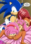 69 amy_rose anthro bdsm blaze_the_cat bondage bound comic dialog hedgehog licking mobius_unleashed nude oral oral_sex rouge_the_bat sally_acorn sega sex sonic sonic_(series) sonic_the_hedgehog text tongue