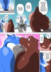 big_breasts breast_squish breasts chubby comic female gillpanda hippo huge_breasts hyper hyper_breasts kissing lesbian morbidly_obese overweight
