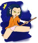 black_hair bluelimelight jackie_chan_adventures jade_chan open_mouth panties yellow_eyes