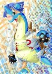 blue_hair edmol green_eyes james kojirou_(pokemon) lapras open_mouth pokemon team_rocket transformation what