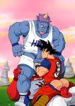 anal bara cum dragon_ball_z gay goku goz male mez miotoko oral partially_clothed son_goku threesome yaoi