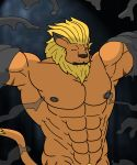 1boy anthro goo leomon lion male male_only muscle no_humans slime solo tentacle