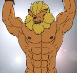 leomon lion male nipples no_sex pecs solo