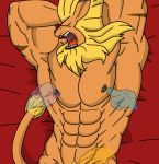 armpits leomon lion male nippleplay solo tickle