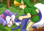 ass big_breasts blush breasts crossover erect_nipples fifi_le_fume horny link looking_at_viewer palcomix pussy the_legend_of_zelda vaginal_penetration young young_link