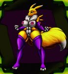 1_female 1_girl 3_fingers 3_toes abs alternate_version_available angry anthro anthro_canine anthro_fox areola big_areola big_breasts big_hips big_thighs black_sclera blue_eyes breasts canine chest_tuft claws clitoris curvaceous detached_sleeves digimon erect_nipples female female_anthro female_anthro_fox female_only female_renamon fluffy fluffy_(artist) fox fur gloves huge_breasts huge_hips large_hips leggings line_art lips mane markings mostly_nude muscle muscles muscular_female navel nipples nude pubic_hair puffy_nipples pussy renamon solo thecon thick_thighs toei_animation vixen voluptuous white_fur wide_hips yellow_fur