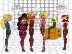 6_girls anne_maria blaineley bridgette dakota dawn flashlight237 multiple_girls straitjacket total_drama_island zoey