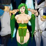 big_breasts breasts cecil_harvey edge_geraldine final_fantasy final_fantasy_iv handjob nipples rydia zapon