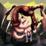 bestiality breasts hinata_hyuuga impregnation janse monster naruto nipples pussy_juice tentacle