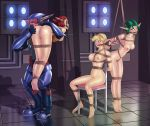 ashelin ass big_breasts bondage breasts jak_and_daxter keira nipples reptileye reptileye_(artist) tess_(jak_and_daxter)
