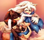 cute furry gay shadow_the_hedgehog silver_the_hedgehog sonic sonic_the_hedgehog yaoi