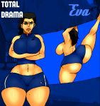 angry ass big_ass big_breasts breasts eva gym hips jay-marvel pants total_drama_island wide_hips
