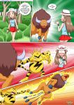 comic electabuzz leaf_(pokemon) leafs_adventure pokemon pokepornlive tauros